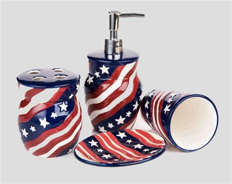 red white and blue bathroom accessories ideas home