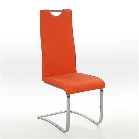 freischwinger stuhl orange bestseller shop f 252 r m 246 bel und - Stühle Mit Armlehne Günstig