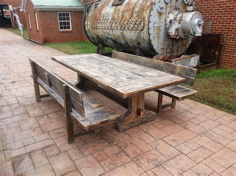 plain rustic wood outdoor furniture oak 2 beam long garden