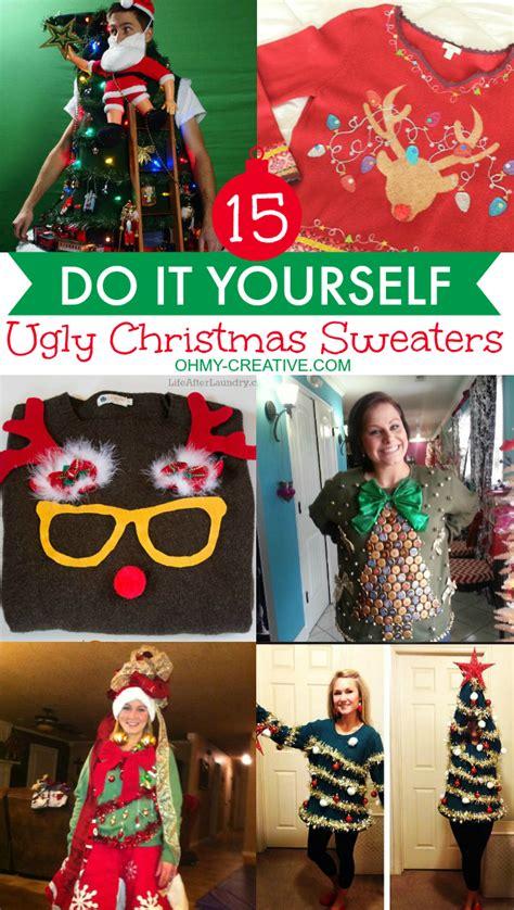ugly christmas sweaters   creative