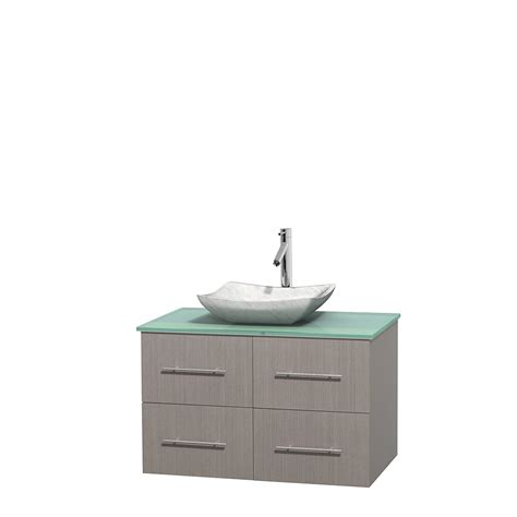 Green Glass Vanity by Wyndham Collection Wcvw00936sgogggs3mxx Centra 36 Inch