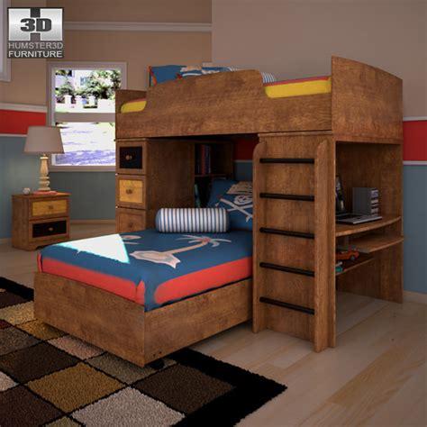 loft bedroom set 3d model youth loft bedroom set vr ar