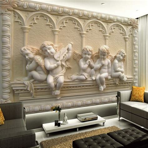 living room wall murals custom 3d mural wallpaper european style 3d stereoscopic