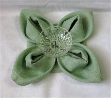 Origami Napkin Flower - origami napkins all about wedding