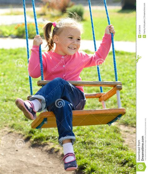 girl in swing cute little girl on swing stock images image 21367344
