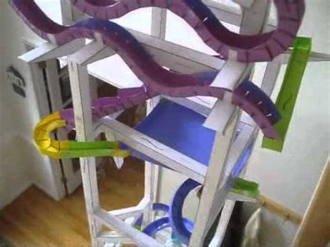 How To Make Paper Roller Coaster - marbles the kid should see this