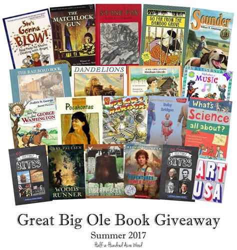 Book Giveaways 2017 - great big ole book giveaway cc cycle 3 half a hundred acre wood