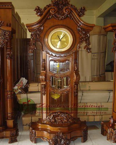 Lu Hias Kayu Jati jam hias kayu jati zimalaya furniture