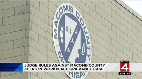 Macomb County Clerk S Office by Judge Against Macomb County Clerk Spranger In