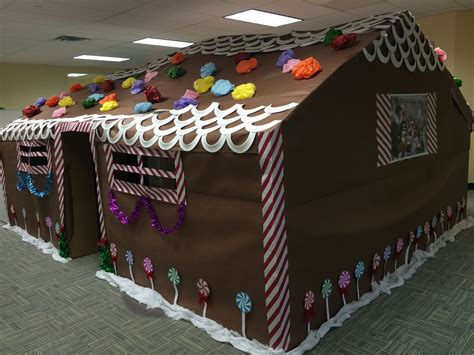gingerbread house office cubicle decorations 4 office cubicles decorated for the holidays our gingerbread house office cubicle