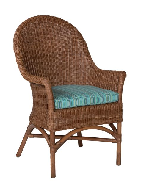 Dining Arm Chair West Palm Wicker Dining Arm Chair Cottage Home 174