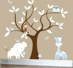 Wall Decals For Boys Nursery Boys Nursery Jungle Decal Set Tree Wall Decal By Couturedecals