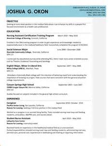 Sample Cna Resume Objective cna resume objective cna resume templates tutorials and examples png