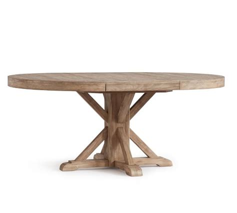Benchwright Extending Pedestal Dining Table Seadrift Extending Pedestal Dining Table