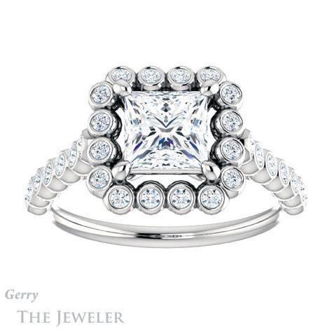 princess cut engagement ring setting gtj1119 square w