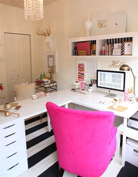 1000 ideas about ikea office hack on pinterest ikea l shape desk ikea hack gold white and magenta office decor