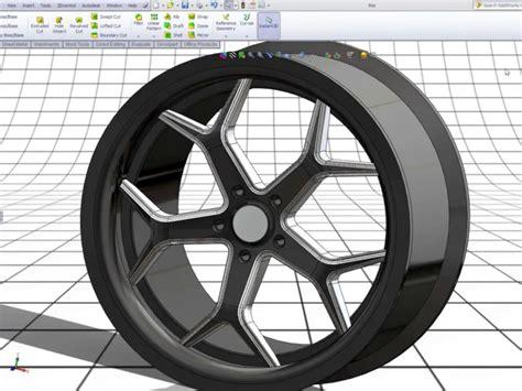 tutorial solidworks wheel modeling a 3d 20 inch rim in solidworks car body design