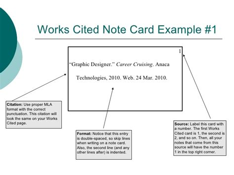 note card template for annotated bibliography taking notes with note cards