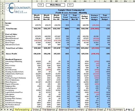 monthly accounts excel template financial management reporting system excel templates