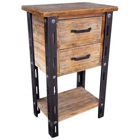 woodrow accent table 1 bottom shelf 2 drawers