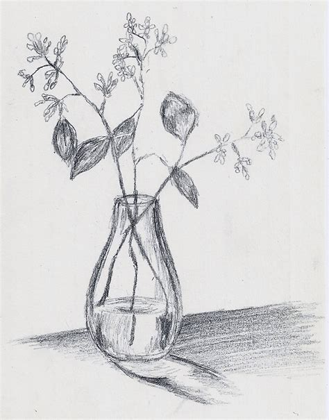 Sketch Of A Vase by Small Vase Of Flowers Vases Sale