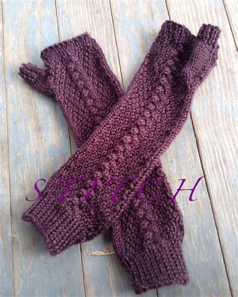 Handmade Gloves - handmade knit arm length fingerless gloves made to order