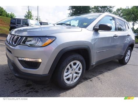 silver jeep compass 2017 billet silver metallic jeep compass sport 121117426