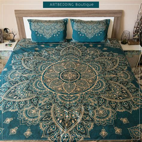 teal and gold bedding for this design i used 2 shades of teal that is one of the