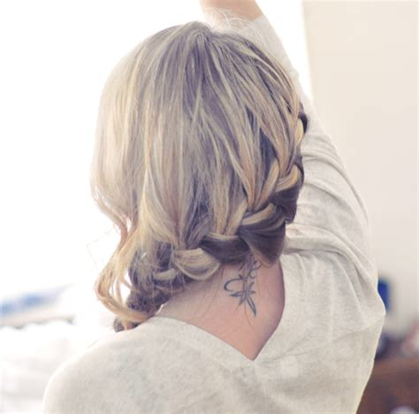 French Braid Low Side | love my hairstyle low side french braid