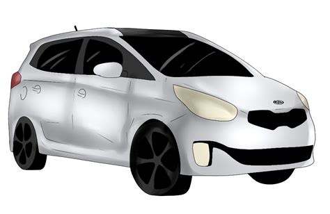 Kia Car Lineup 2014 Kia Car Suv Minivan Line Up Cartoonized Vehicle
