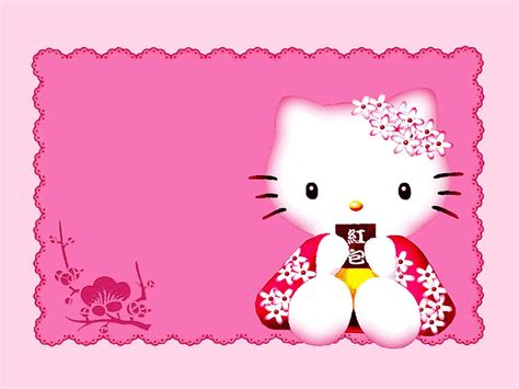 jual border wallpaper hello kitty hello kitty border clip art 15