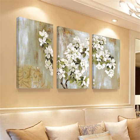 home interior wall sconces home decor wall painting flower canvas painting cuadros
