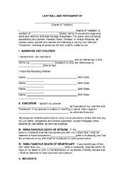 last will and testament texas free texas last will template