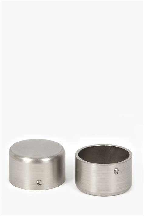 curtain rod end caps two pack brushed silver rod end caps 35mm curtain