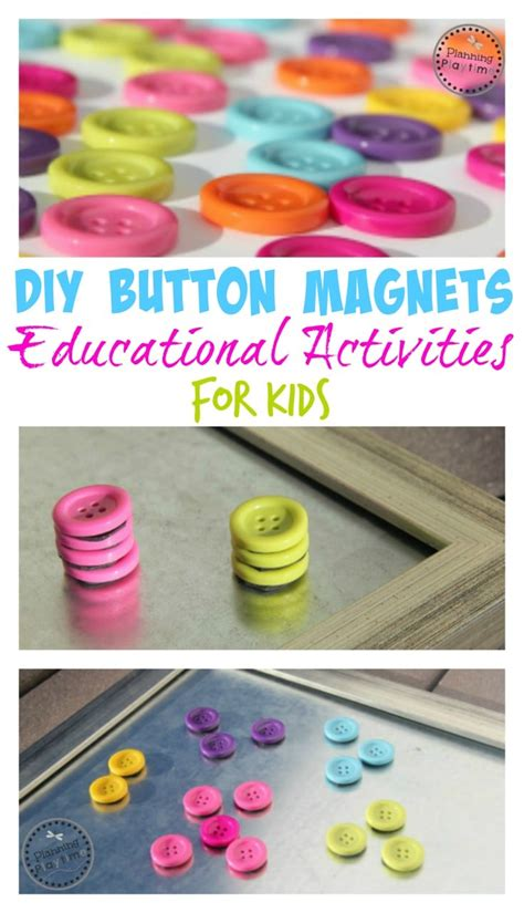 diy magnets crafts diy button magnets craft and educational for planning playtime
