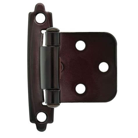 self closing cabinet hinges home depot liberty oil rubbed bronze self closing overlay hinge 1