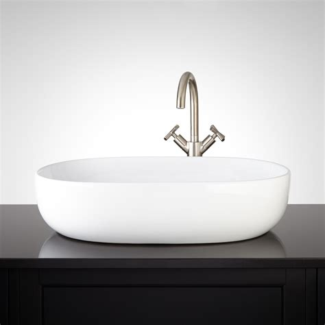 porcelain vessel sinks bathroom presanella oval porcelain vessel sink vessel sinks