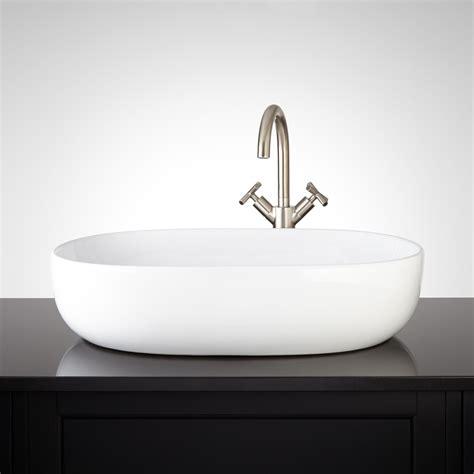 Porcelain Vessel Sinks Bathroom Presanella Oval Porcelain Vessel Sink Vessel Sinks Bathroom Sinks Bathroom
