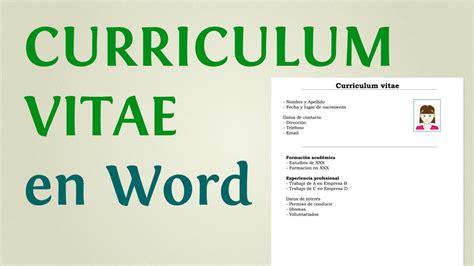 Modelo Curriculum Vitae Word Con Foto modelo e imagenes de curriculum vitae modelo de