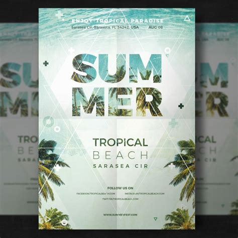 Flyer Design Vorlagen Psd Summer Vectors Photos And Psd Files Free