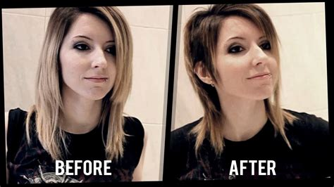 before and after emo haircut diy speed haircut pelo corto short hair tutorial