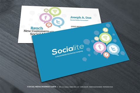 social media business card template free 3 social media business cards business card templates