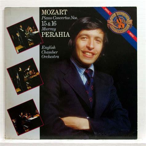 mozart piano concerto mozart piano concertos nos 15 16 by murray perahia lp