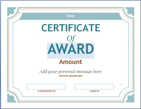 editable award certificate template editable award certificate template in word 94xrocks