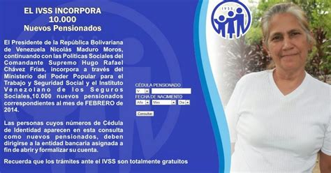consulta de cedula pensionados amor mayor 2016 ultimas listas de pensionados 2014 amor mayor