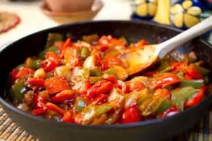 Spain Main Dishes - hola bienvenido a espa 241 a pisto spanish ratatouille