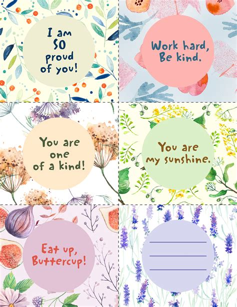 notes from across the blue printable lunchbox notes blue mountain