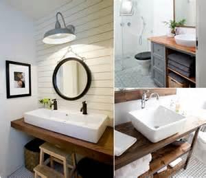 plan de travail salle de bain en bois pour tous les styles