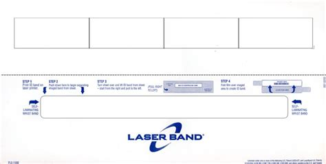 Hospital Band Template laserband hospital patient wristbands hospital forms