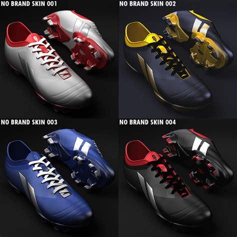 balls football shoes soccer shoes 3d model
